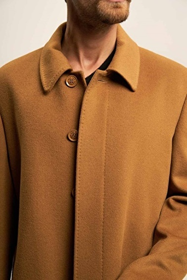 Silk and Cashmere Palto Camel